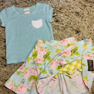 Matilda Jane T-shirt and Skirt Set